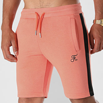 Final Club - Short Jogging Premium A Bandes 648 Orange Pastel