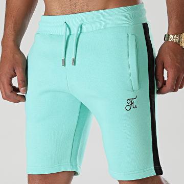 Final Club - Short Jogging Premium Avec Bande 649 Bleu Pastel