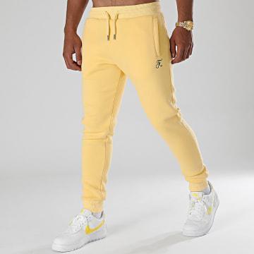 Final Club - Pantalon Jogging Premium Avec Broderie 655 Jaune Pastel