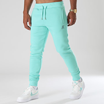 Final Club - Pantalon Jogging Premium Avec Broderie 657 Bleu Pastel