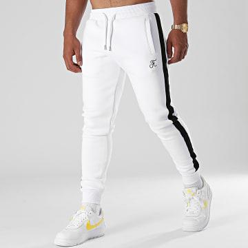 Final Club - Pantalon Jogging Premium A Bande 658 Blanc