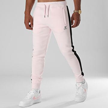 Final Club - Pantalon Jogging Premium A Bande 662 Rose Pastel