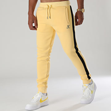 Final Club - Pantalon Jogging Premium Avec Bande 663 Jaune Pastel