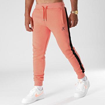Final Club - Pantalon Jogging Premium A Bande 664 Orange Pastel