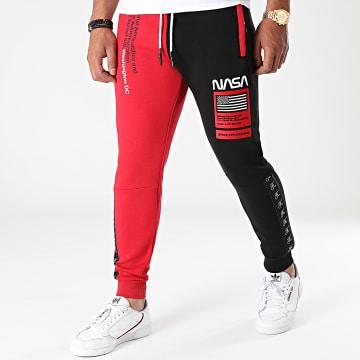 Final Club - Pantalon Jogging Half Colors Limited Edition Noir Rouge