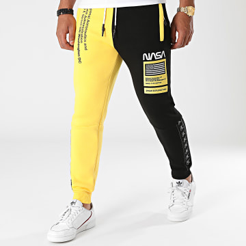 Final Club - Pantalon Jogging Half Colors Limited Edition Noir Jaune