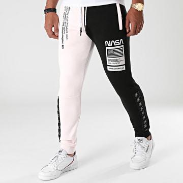 Final Club - Pantalon Jogging Half Colors Limited Edition Noir Rose Pale