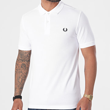 Fred Perry - Polo Manches Courtes Plain Fred Perry M6000 Blanc