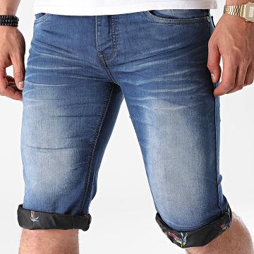 Mackten - Short Jean PZ-2333 Bleu Denim