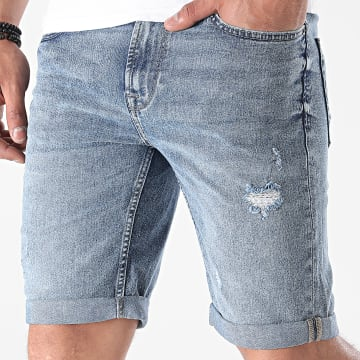Only And Sons - Short Jean Ply Life Blue Bleu Denim