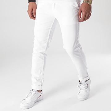 Paname Brothers - Pantalon Chino Tall Blanc