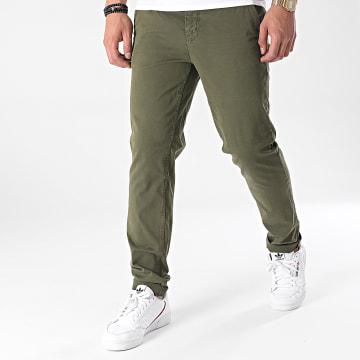 Paname Brothers - Pantalon Chino Tall Vert Kaki