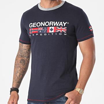 Geographical Norway - Tee Shirt Jinter Bleu Marine