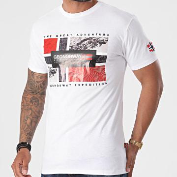 Geographical Norway - Tee Shirt Jeologic Blanc