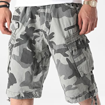 Geographical Norway - Short Cargo Panoramique Gris Camouflage