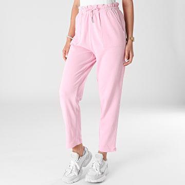Only - Pantalon Femme Zoey Paperbag Rose