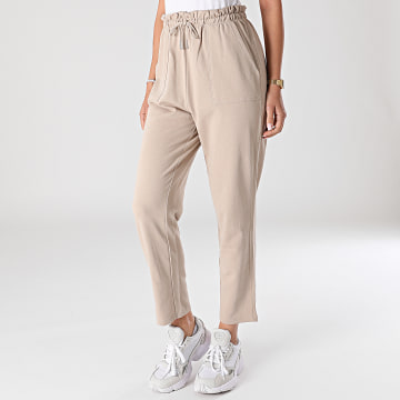 Only - Pantalon Femme Zoey Paperbag Beige