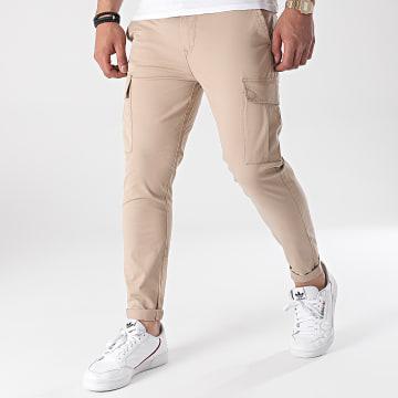Tiffosi - Pantalon Cargo Slim Nosok 10037791 Beige