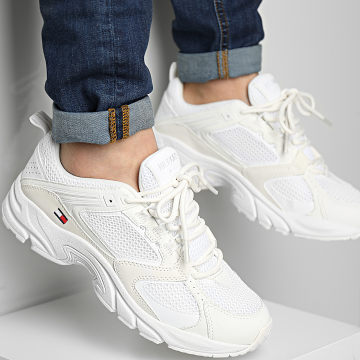 Tommy Jeans - Baskets Archive Mesh Runner 0666 Ivory