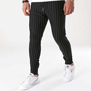 KZR - Pantalon A Rayures CH22-065 Noir