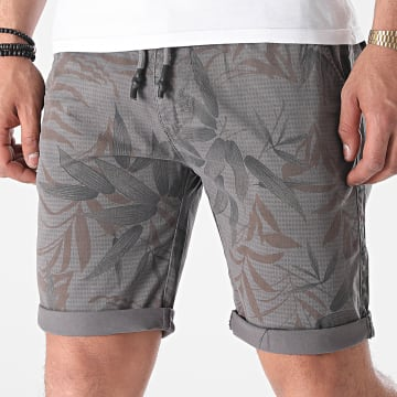 MTX - Short Chino Floral XV-22121 Gris Anthracite
