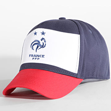 FFF - Casquette F20093 Bleu Marine Rouge