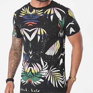 Uniplay - Tee Shirt UY638 Noir Floral