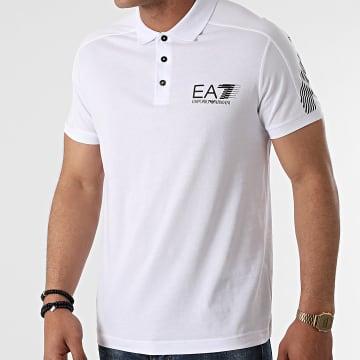 EA7 Emporio Armani - Polo Manches Courtes 3KPF21-PJ02Z Blanc