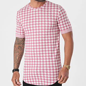 Frilivin - Tee Shirt Oversize BM15226 Rose Blanc