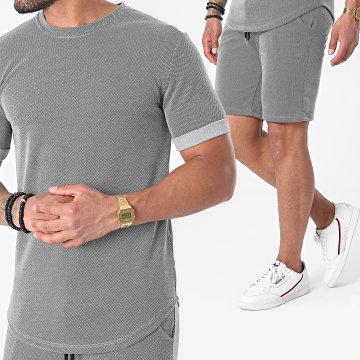 Frilivin - Ensemble Tee Shirt Oversize Short 15252 Gris