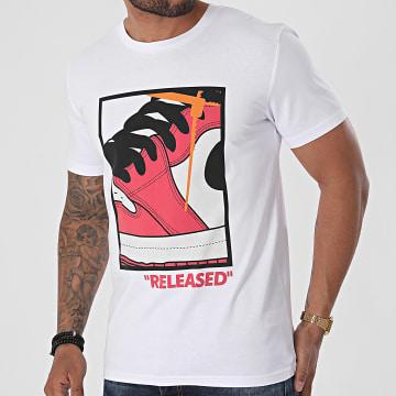 Luxury Lovers - Tee Shirt Released Blanc Rouge