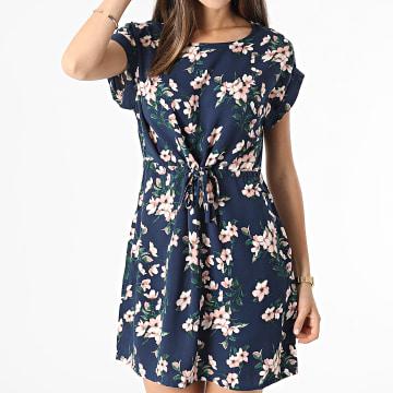 Vero Moda - Robe Femme Floral Simply Easy Bleu Marine