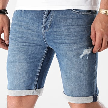 Only And Sons - Short Jean Ply Reg 6950 Bleu Denim