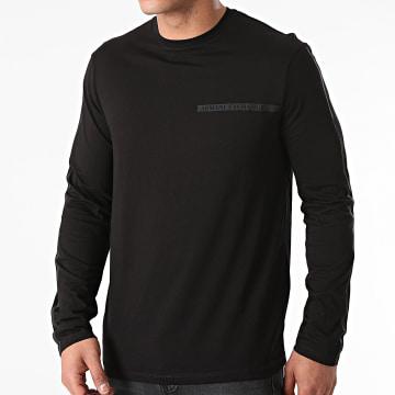 Armani Exchange - Tee Shirt Manches Longues A Bandes 3KZTFE-ZJH4Z Noir
