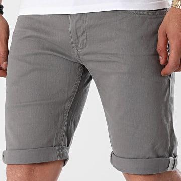 Indicode Jeans - Short Jean Slim Villeurbanne Box 70-346 Gris Anthracite