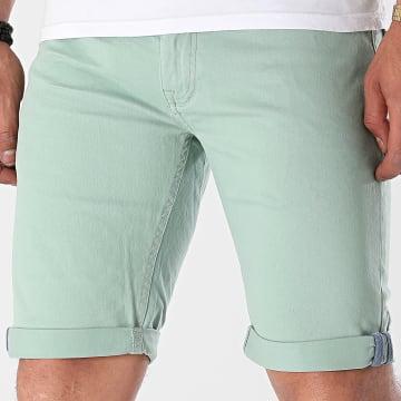 Indicode Jeans - Short Jean Slim Villeurbanne Box 70-346 Vert Clair