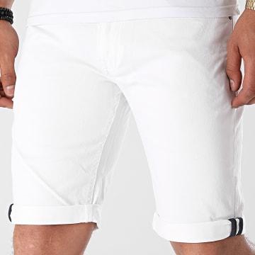 Indicode Jeans - Short Jean Slim Villeurbanne Box 70-346 Blanc