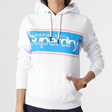 Superdry - Sweat Capuche Femme Classic W2010868A Blanc