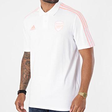 Adidas Performance - Polo Manches Courtes A Bandes Arsenal FC GK9396 Ecru