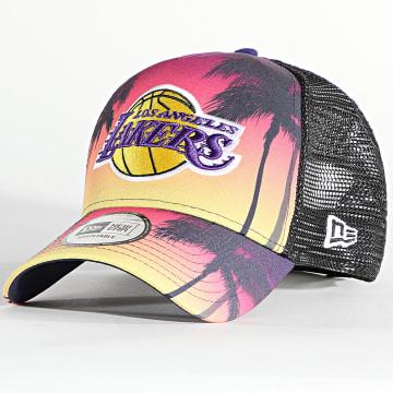 New Era - Casquette Trucker Summer City 60137591 Los Angeles Lakers Sunset