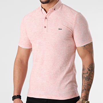 Classic Series - Polo Manches Courtes 1083 Rose Chiné