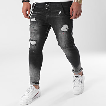 Classic Series - Jean Skinny DH-4012-1 Gris Anthracite