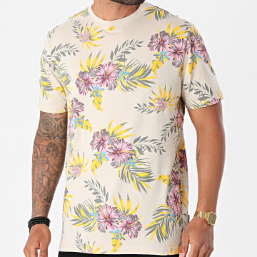 Only And Sons - Tee Shirt Kane Life Beige Floral