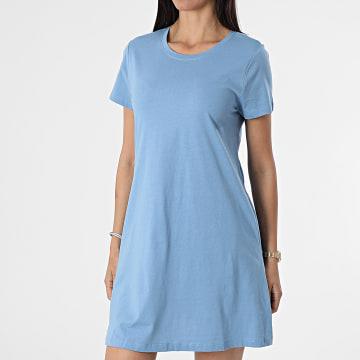 Only - Robe Tee Shirt Femme May Life Bleu