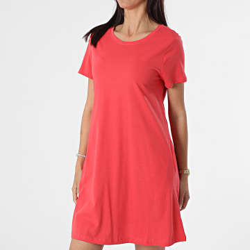 Only - Robe Tee Shirt Femme May Life Rouge