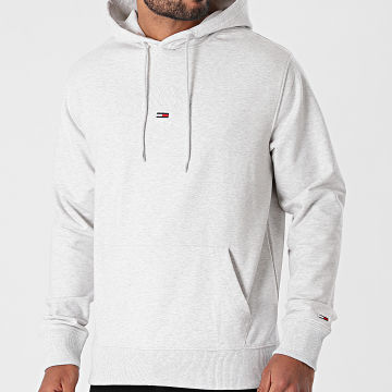 Tommy Jeans - Sweat Capuche Lightweight Tommy 0628 Gris Chiné