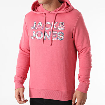 Jack And Jones - Sweat Capuche Fleur Rose
