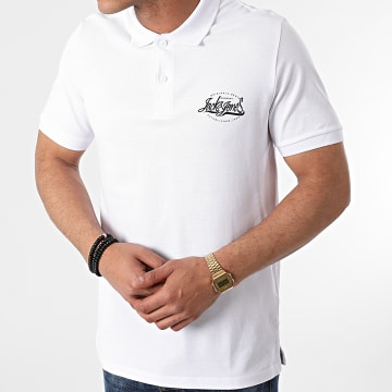 Jack And Jones - Polo Manches Courtes Brink Blanc