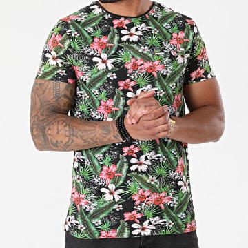 La Maison Blaggio - Tee Shirt Moore Noir Vert Floral