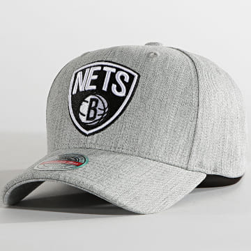 Mitchell and Ness - Casquette Team Heather Snapback Brooklyn Nets Gris Chiné